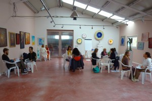 Class in the gallery