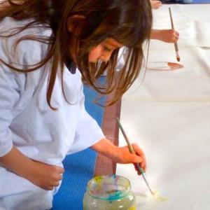 Kids Art concentration girl