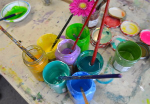Paint Jars ready to go