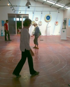 Walking the labyrinth inside