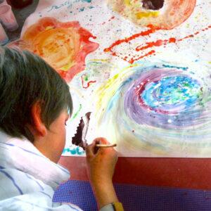 kids art concentrating